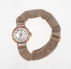 A Lady's Gold Wristwatch, Circa 1920. Manual. 24mm.