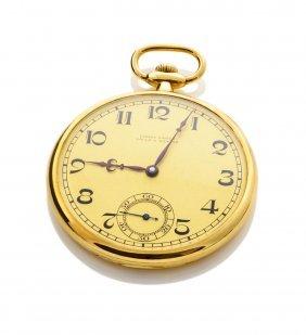 A Gold Openface Pocket Watch, Ulysse Nardin, Locle &