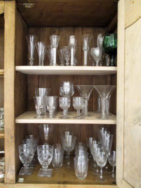 A Collection Of Antique Glass Including Some Georgian