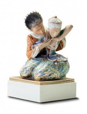 """A Royal Copenhagen Figure Group """"fairy Tale Iii"""","""