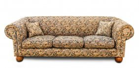 A Chesterfield Style Three Seat Upholstered Settee