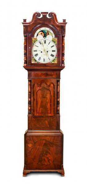An Early Victorian Mahogany Long Case Clock By John