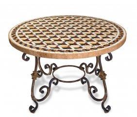 An Italian Circular Pietra Dura Table Top With