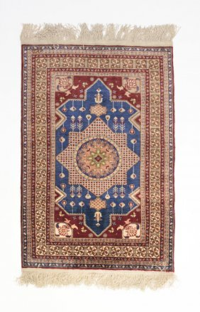 A Turkish Kayseri Silk Rug, 20th Century