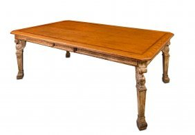 A French Neoclassic Centre Table With Rectangular Oak
