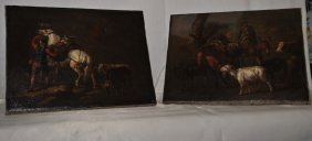 Pair Of Italian 17th Cent Paintings