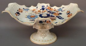 MASON'S IRONSTONE CENTERPIECE COMPOTE EARLY 19TH C.