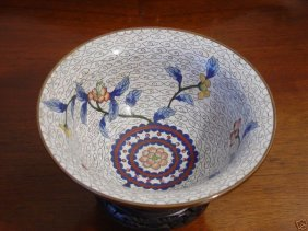 Pair 19th Century Antique Chinese Cloisonne Bowls