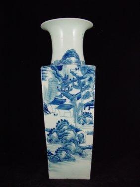 19th Century Chinese Export Quadrilateral Vase
