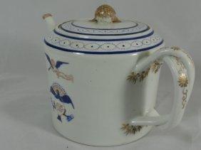 19th Century Chinese Export Teapot Flying Cherub