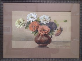 "Mae Bennett Brown ,""Flower Vase"""