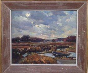 """W. Lester Stevens ,""""Abandoned Row Boat"""""""