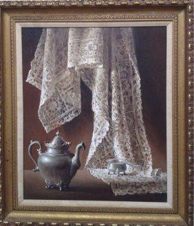 "Helen Van Wyk Still Life With Lace"""