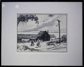 """Gordon Grant , """" The Little Harbor"""""""