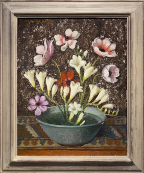 "Emma Fordyce Macrae , "" Anemonies And Freesia With"