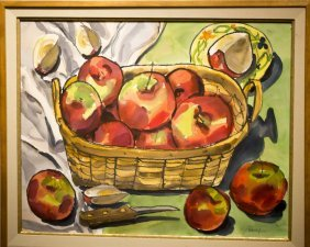 "Oliver Balf , "" Basket Of Apples"""