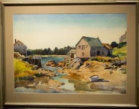 """W. Lester Stevens , """" Low Tide, Gloucester"""""""