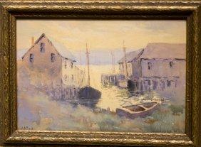 """John A. Cook , """" A Gloucester Morning"""""""