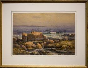 """John A. Cook , """" Thachers Island, Twin Lights"""""""