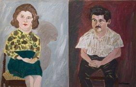 "Earle Merchant , "" Carol & David (set Of 2"