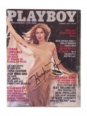 Hugh Hefner Signed Barbara Bach John Lennon Playboy