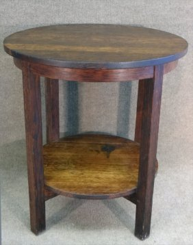 Gustav Stickley #607 Round Side Table