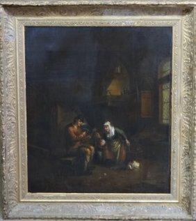 O/c Old Master Dutch School Interior