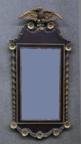 Parcel Gilt & Mahogany Federal Style Mirror