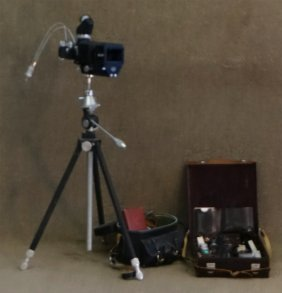 1955 Leica Iiif Camera Serial # 793485 W/ Tripod
