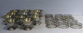 Sterling Silver Sherbert Cups -11 & 12 Sterl.