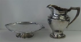 Sterling Silver Pitcher & Low Tazza