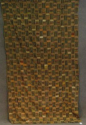 "Kente Cloth, Handwoven Patchwork 66"" X 112"""