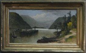 "O/c ""barge & Paddle Wheeler On The River"""