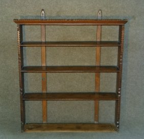 Hanging Wall Shelf W/ Chip Carved Molding