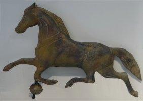 Early 20thc. Ohio Running Horse Weathervane