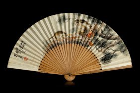 Chinese Painting Of The Fan By Liu Kuiling