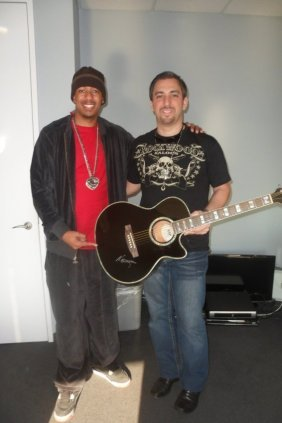 Nick Cannon Signed Electric Acoustic Guitar