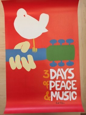 Woodstock No Back Plate: Signed By Artist