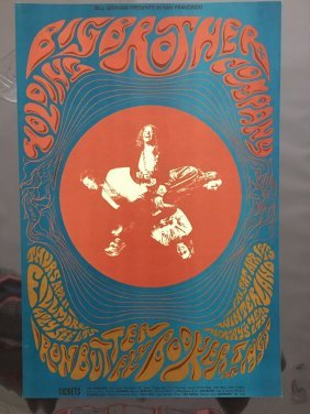 Janis Joplin Poster 1968 Big Brother & The Holding