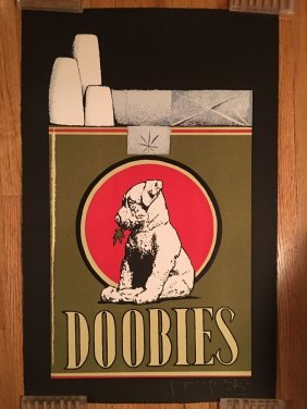 """Stanley Mouse Signed """"doobies"""" Litho"""