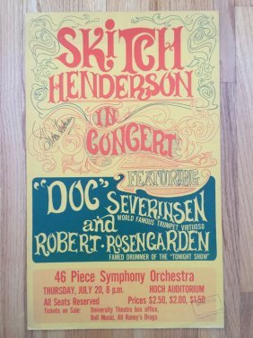 Skitch Henderson Signed Poster