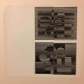 Victor Vasarely Bookplate 5 - From 1971