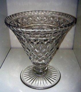 Huge & Unusual  Edwardian Crystal Vase Ca1900