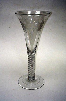 "Very Rare 10"" Huge Georgian Air Twist Glass 1800"