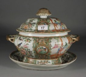 A Twentieth Century Cantonese Soup Tureen Cover And