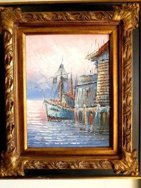 Oil On Canvas. Marine
