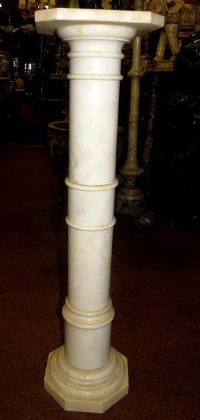 Alabaster Pedestal. Circa 1940
