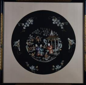 Chinese Framed Silk Embroidery