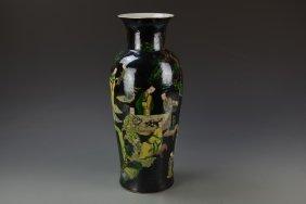 Chinese Famille Noir Vase