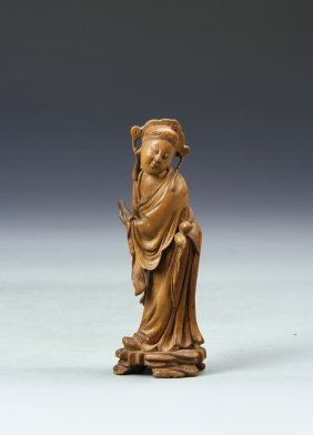 Chinese Boxwood Figure